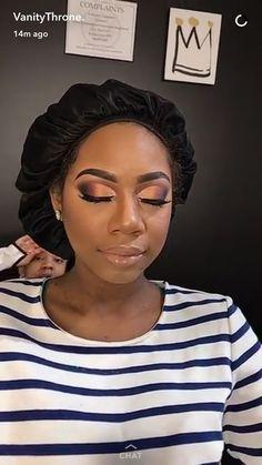 Dark skin makeup, full face makeup, love makeup, makeup on fleek, flawles. Makeup On Fleek, Flawless Makeup, Cute Makeup, Pretty Makeup, Makeup Looks, Makeup Tips, Beauty Makeup, Hair Makeup, Huda Beauty