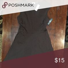 NY&C Brown cotton dress, size M A Brown Cotton comfortable Dress for work or casual wear. Size Medium New York & Company Dresses Midi