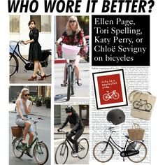 Who Wore It Better: Celebrities on Bikes, created by polyvore-editorial on Polyvore