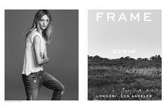 Frame Denim's spring 2015 ad campaign starring Sasha Pivovarova.