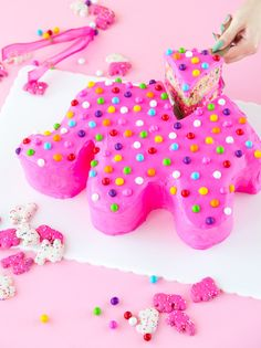 Giant Frosted Circus Animal Cake