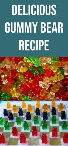 Ingredients: 1 package of JELLO oz size) 1 tablespoon of gelatin cup of water gummy bear Vegan Gelatin, Gelatin Recipes, Jello Shot Recipes, Popcorn Recipes, Candy Recipes, Snack Recipes, Jello Desserts, Jello Gummy Bears