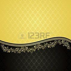 Vintage gold und schwarz