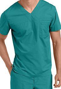 Landau For Men Prewashed One-pocket V-neck Scrub Tops Next Mens, Scrub Sets, Scrubs, Unisex, Pocket, Workout, Stylish, Shopping, Tops