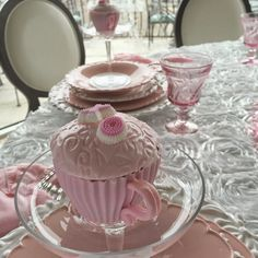 Purple Chocolat Home: Pink, Pink, Pink Valentine's Table and A Giveaway