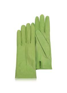 Forzieri Women's Mint Unlined Italian Leather Gloves ༺נαηιє♥кαтнℓєєη༻