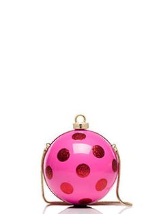 Adorable. Kate Spade Ornament Clutch. Tis the season: add a little holiday cheer to your ensemble with this gorgeous, graphic clutch, which was inspired by the look of our favorite old-fashioned christmas tree ornaments.