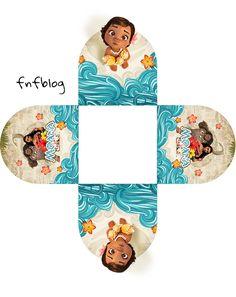 Bonitas cajas para imprimir gratis para Fiestas de Moana Bebé , que sólo tienes que personalizar, imprimir al tamaño que quieras,...
