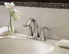 Eva LifeShine Brushed Nickel Lavatory Faucet With Pop Up Drain    6410BN