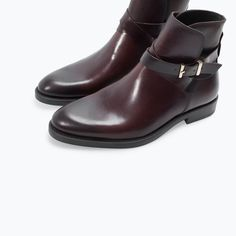 ZARA - MAN - LEATHER BOOT WITH BUCKLE