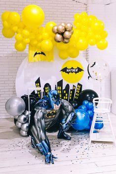 Mickey 1st Birthdays, Birthday Ideas, Birthday Parties, Batman Party, Cute Art, Balloons, Celebration, Food And Drink, Party Ideas