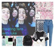 """""""meeting fans with luke❤//Tee^^"""" by teutabakula ❤ liked on Polyvore"""