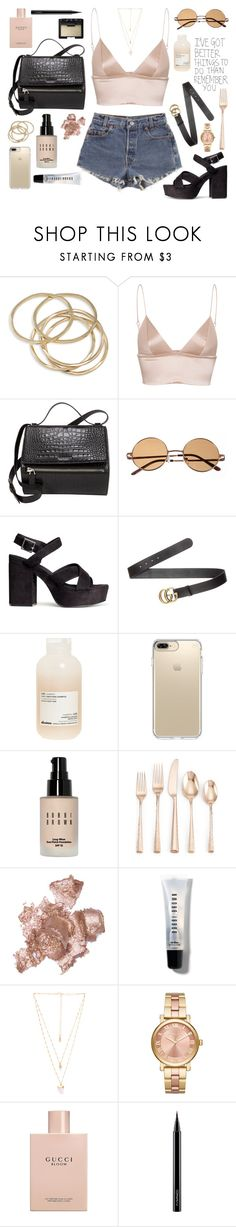 """S I L K"" by fauhxie ❤ liked on Polyvore featuring ABS by Allen Schwartz, T By Alexander Wang, Levi's, Givenchy, H&M, Gucci, Davines, Speck, Bobbi Brown Cosmetics and Lenox"
