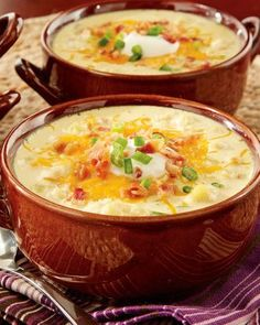 "This awesome Loaded ""Baked Potato"" Soup is so easy and fast, your family will never believe that you made it from scratch! Get the ingredients for this perfect weeknight dinner at Walmart soup entrée Slow Cooker Recipes, Crockpot Recipes, Soup Recipes, Great Recipes, Cooking Recipes, Favorite Recipes, Recipies, Loaded Baked Potato Soup, Easy Potato Soup"