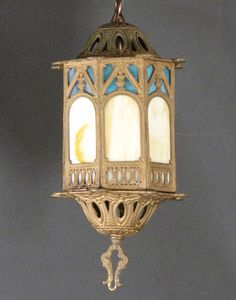 Slag Glass Lantern