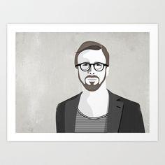 Hipster #2 Art Print by Alex - $15.00
