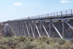 Rio Grande Gorge Bridge in Taos NM is the 6ht highest suspension bridge in the USA. photo Steve Collins