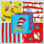 Dr. Seuss!  Fabric by Kaufman  I want this for my classroom.  If only had more money...maybe when we move to the new school.