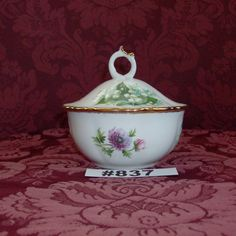 Royal Albert Flower of the Month Candy Dish with lid Royal Albert candy dish…