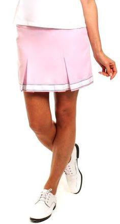 "Golftini Ladies Cameo Pink Cotton 19"" Pleated Golf Skort available at #lorisgolfshoppe"