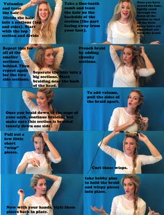 Elsa braid tutorial from Frozen :) Hipster Haircuts For Men, Cool Haircuts, Cute Hairstyles, Frozen Hairstyles, Hairdos, Elsa Braid, Bad Hair, Hair Art, Hair Today
