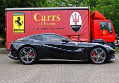 Ferrari F12 Berlinetta--it's like a corvette except that it literally burns euros for added horse power.