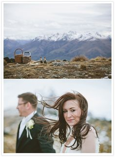 mountaintop wedding picnic by Bayly and Moore Photography via 100 layer cake