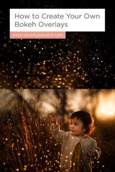 "I've always wondered how photographers created their overlays! Read - ""How to Create Your Own Bokeh Overlays"""