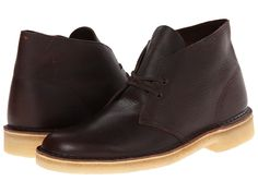 CLARKS CLARKS - DESERT BOOT (BROWN TUMBLED LEATHER) MEN'S LACE-UP BOOTS. #clarks #shoes #