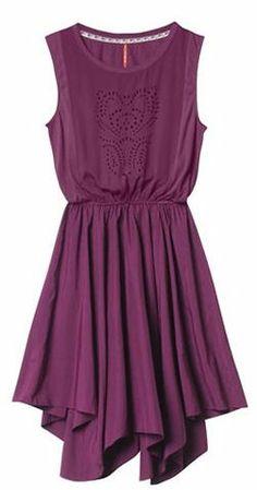 Plum Cut-out Dress <3