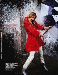 """""""Fun in the Rain"""" by David Burton for Elle Taiwan"""