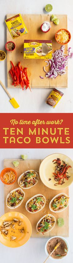 Looking for a quick an easy weeknight dinner? Use Old El Paso Soft Tortilla Taco Bowls to whip up something that's easy to fill, hold, and eat!