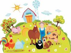 vector cartoon farm animals