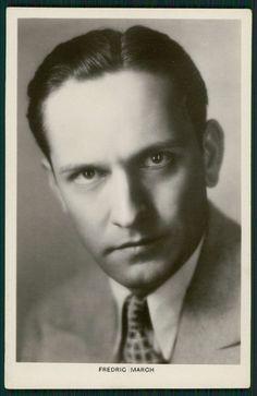 Fredric March Movie Star Cinema original old from c1920-1950s photo postcard