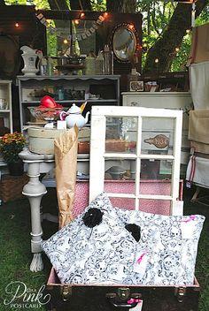 *PinkPostcard.*: my booth at Deepwood Vintage Market