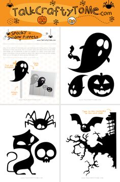 Spooky Halloween Shadow Puppets.   Download our free template to create these spooky Halloween shadow puppets, then turn out the lights, and let your imagination run wild.