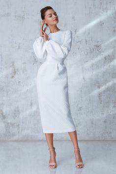 Платье «Лиля» белое, Цена— 24990 рублей