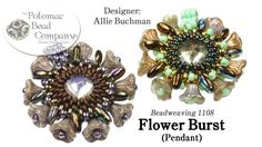 """This video tutorial from The Potomac Bead Company teaches you how to make Allie Buchman's """"Flower Burst"""" pendant design. Find a list of supplies in the descr..."""