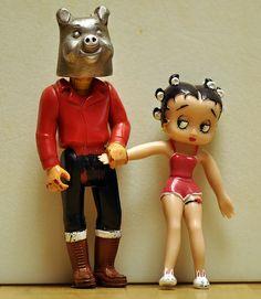 Betty Boop with her boyfriend <3