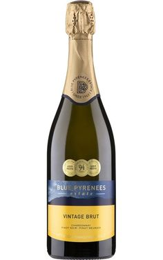 Blue Pyrenees Vintage Brut 2013 Pyrenees - 6 Bottles Wine Types, Wine Vineyards, Sparkling Wine, Pyrenees, Pinot Noir, Freshly Baked, Red Apple, Whisky, Green Colors