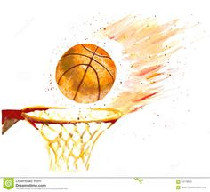 watercolor elephant basketball - Google Search