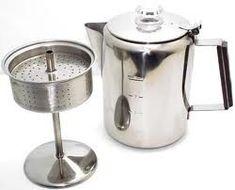 Old Fashion Stove Top Coffee Percolator - Non Electric Kitchen Appliances - Kitchen & Food Prep