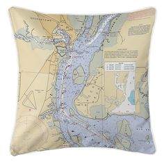 SC: Georgetown, SC Nautical Chart Pillow