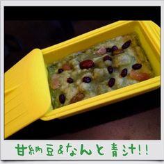 レーズン→甘納豆 水→豆乳 抹茶がないから青汁でお砂糖20gでやってみました!  もっちもちー꒰ ૢ❛ั◡❛ั ॢ✩꒱  ずっしり食べ応えがあって明日の朝食にピッタリ☆  これからも色々アレンジしてみたいなぁ(*´艸`) - 62件のもぐもぐ - masakoさんのタッパーでレンジで3分蒸しパン by happylife0606