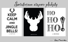 Ozdoby świąteczne - plakaty do pobrania! Christmas Printables, Xmas, Calm, Reading, Projects, Decor, Books, Log Projects, Blue Prints