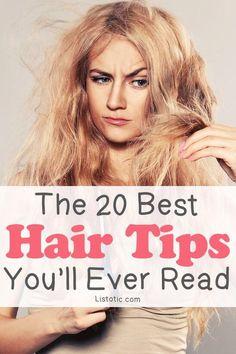 20 Best Hair Tips You'll Ever Read! Every Girl Needs It! #Beauty #Trusper #Tip