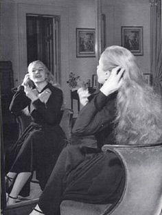 Eva Peron's hair down