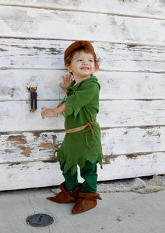 peter pan inspired costume set Robin hood COSTUME boy babies toddler kids infant Children halloween costumes.. $129.00, via Etsy.