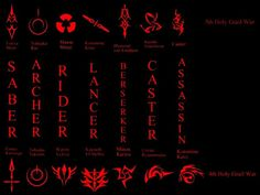 Fate/Stay Night and Fate Zero Command Spells by pandafun101.deviantart.com on @deviantART