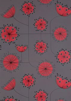 Contemporary Wallpapers Design Dandelion Mobile MissPrint Strom with Coral « Flooring « Room « Design Images, Photos and Pictures Gallery « DESIGN WAGEN